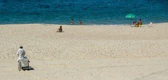 Cena da praia de Rio de Janiero Foto de Stock