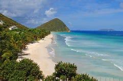 Cena da praia de Tortola Fotos de Stock Royalty Free