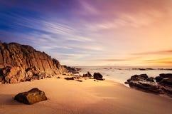 Cena da praia do paraíso foto de stock royalty free