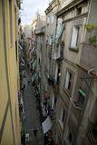 Cena da rua. Área de Barri Gottic. Barcelona. Spain. Imagem de Stock Royalty Free