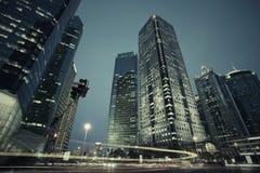 A cena da rua da avenida do século em shanghai, China. Foto de Stock