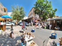 Cena da rua da cidade de Nazareth Imagens de Stock Royalty Free