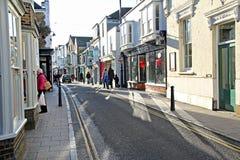 Cena da rua da compra de Whitstable Fotos de Stock Royalty Free