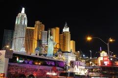 Cena da rua da noite de Las Vegas foto de stock