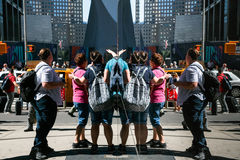 Cena da rua das reflexões de Manhattan Imagens de Stock Royalty Free