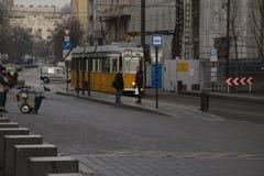 Cena da rua de Budapest fotografia de stock