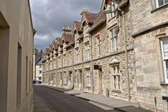 Cena da rua de Cirencester Cotswolds imagens de stock