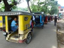 Cena da rua de Coron, Palawan, Filipinas fotos de stock