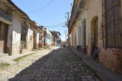 CENA DA RUA DE CUBA TRINIDAD Fotos de Stock Royalty Free