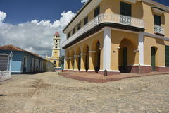 CENA DA RUA DE CUBA TRINIDAD foto de stock