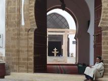 Cena da rua de Essaouira medina, Marrocos Imagem de Stock