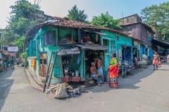 Cena da rua de Kolkata Foto de Stock