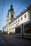 Cena da rua de Linz imagens de stock royalty free