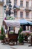 Cena da rua de Lvov Foto de Stock Royalty Free