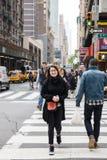 Cena da rua de Manhattan Fotos de Stock Royalty Free