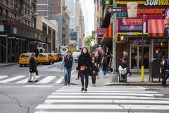 Cena da rua de Manhattan Imagens de Stock Royalty Free