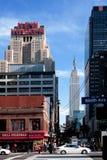 Cena da rua de New York Fotografia de Stock