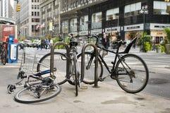 Cena da rua de New York Bicyles Foto de Stock Royalty Free