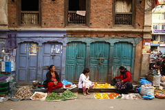 Cena da rua de Patan, Nepal Fotos de Stock