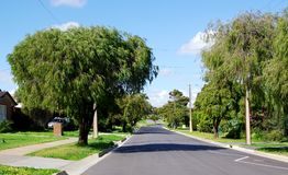 Cena da rua de Surburban Adelaide Imagem de Stock