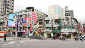 Cena da rua de Taipei perto da área de troca do leste da porta HD video estoque