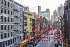 Cena da rua do bairro chinês em New York City Fotos de Stock Royalty Free
