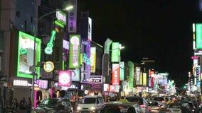 Cena da rua do mercado de Taipei Shilin HD vídeos de arquivo