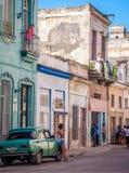 Cena da rua em Havana Fotografia de Stock Royalty Free