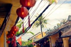 Cena da rua em Hoi An fotos de stock royalty free