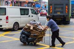 Cena da rua em Hong Kong Imagem de Stock