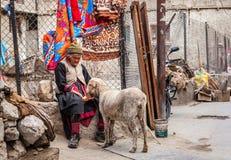 Cena da rua em Leh, Ladakh, Índia Fotos de Stock