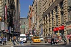 Cena da rua em New York Fotografia de Stock