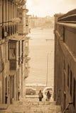 Cena da rua em Valletta Fotos de Stock Royalty Free