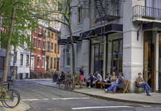 Cena da rua, Greenwich Village, New York Imagens de Stock