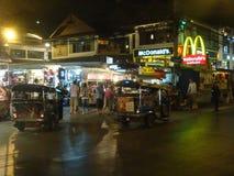 Cena da rua, MAI de Chang, Tailândia Fotos de Stock Royalty Free