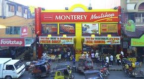 Cena da rua movimentada: cidade do tuguegarao, Filipinas Fotos de Stock Royalty Free