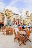 Cena da rua, Victoria, Gozo Foto de Stock Royalty Free