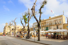 Cena da rua, Victoria, Gozo Imagens de Stock Royalty Free