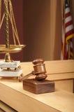 Cena da sala do tribunal Foto de Stock