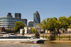 Cena da skyline de Londres fotografia de stock