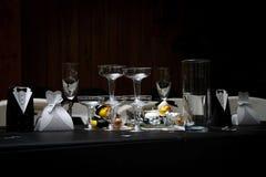 Cena da tabela do casamento Imagem de Stock Royalty Free