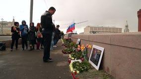 A cena de assassinato de Boris Nemtsov em Moscou filme