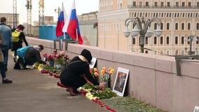 A cena de assassinato de Boris Nemtsov em Moscou vídeos de arquivo