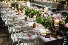 Cena de boda imagen de archivo
