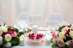 Cena de boda Imagenes de archivo