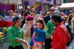 Cena de Bollywood no mercado do vegetal de Dublin Imagens de Stock Royalty Free