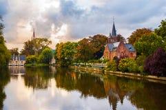 Cena de Bruges Imagens de Stock