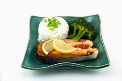 Cena de color salmón Imágenes de archivo libres de regalías