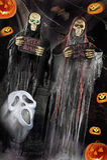 Cena de Dia das Bruxas no fundo escuro Imagem de Stock Royalty Free