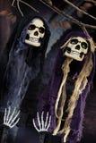 Cena de Dia das Bruxas no fundo escuro Imagem de Stock
